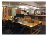 Clean personal desks - standing desks are also available